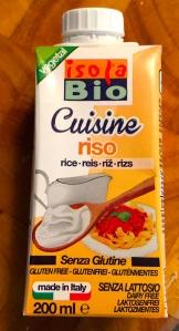Crème végetale de riz bio