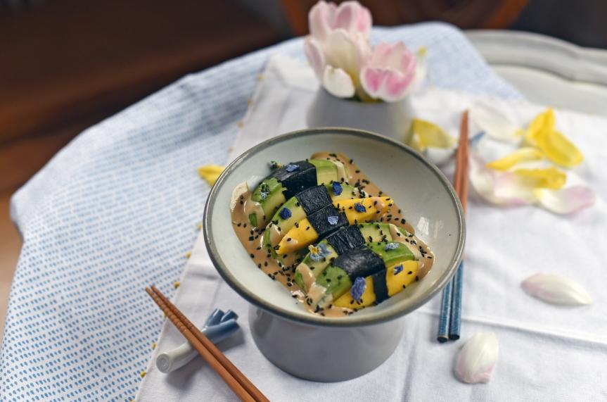 Salade d'avocats, mangues et nori par Echalote&Co